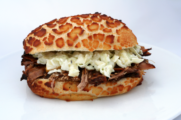 Pulled Pork and Coleslaw Sandwich