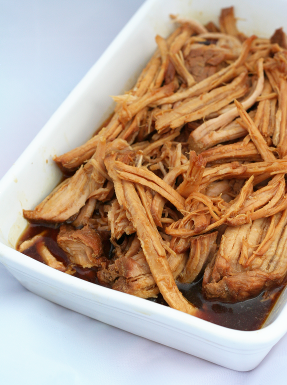 Dish of pulled pork