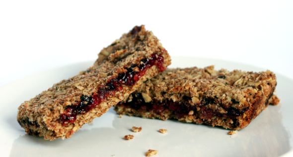 Raspberry Oat Slice
