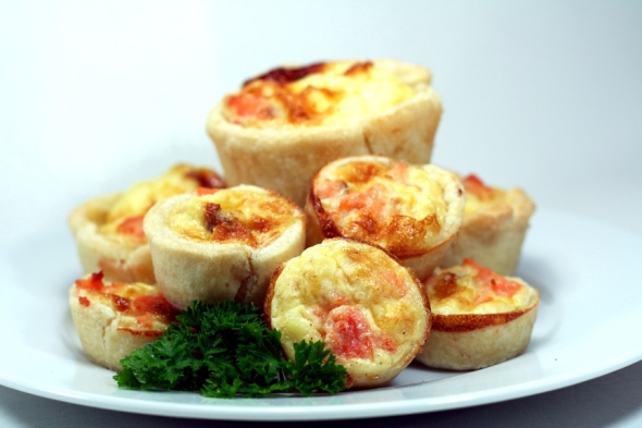 Mini Salmon Quiches