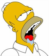 Drooling Homer Simpson