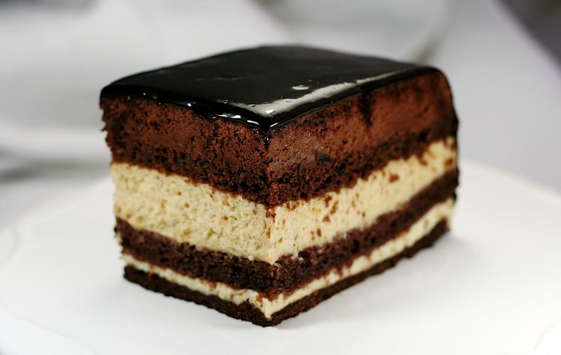 Cake With Small Layers Hazelnut Filling