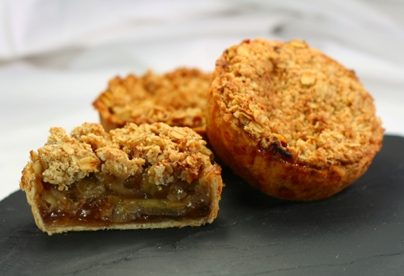 Green Chilli Apple Crumble Pie