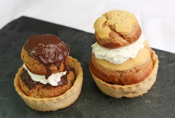 Sweet (L) and Savoury (R) Religieuses
