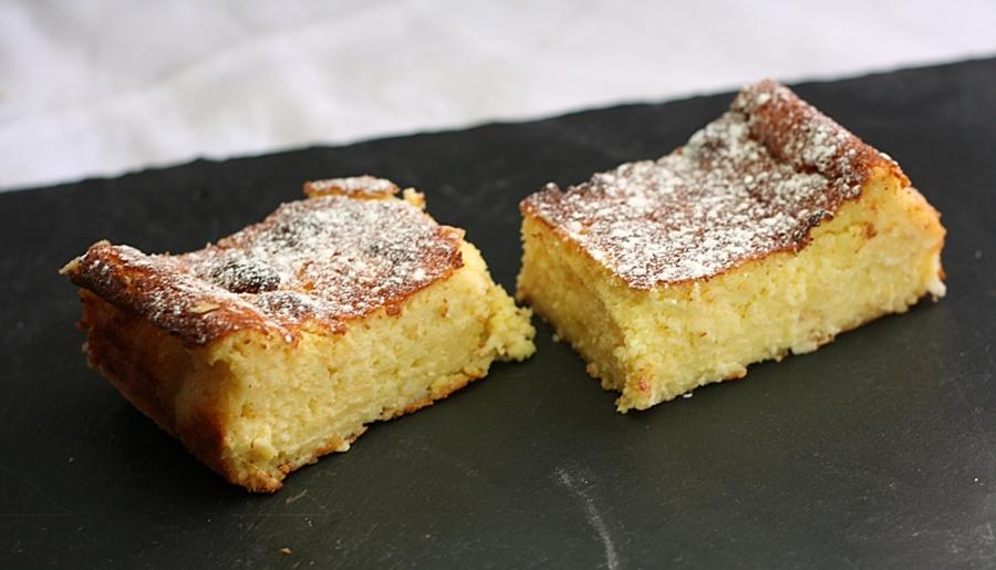Coconut Lemon Magic Cake