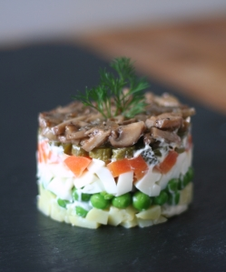 Vegetable stack salad