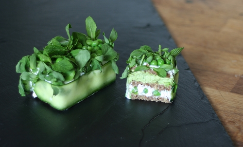 Pea, Goat Cheese & Mint Glamwich