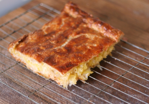 Apple Butternut Pie with puff pastry