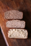 Loaf crumb for different flour