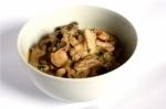 A bowl of Chicken Tetrazzini
