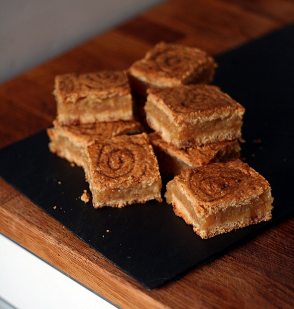 Apple Slice with oat swirl pastry