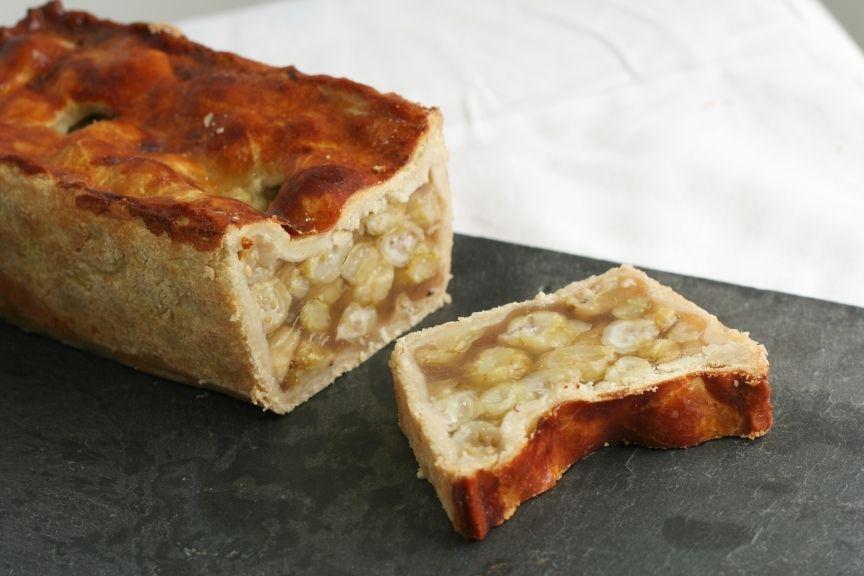 Gooseberry and Elderflower Raised Pie