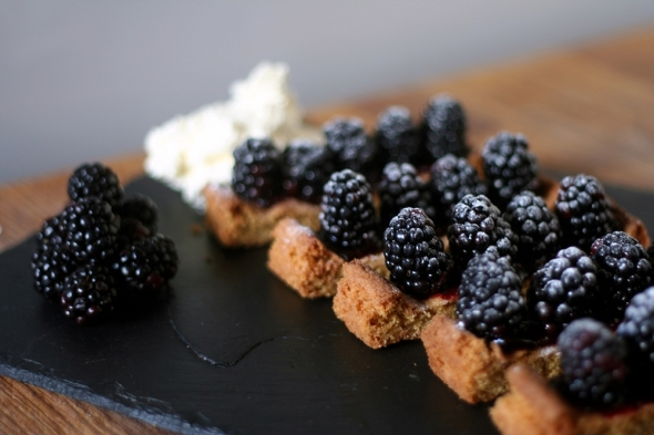 Blackberry Shortbread