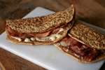 Staffordshire Oatcakes with Cheese and Bacon