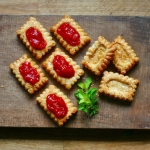 Cheese Biscuits with Tomato Jam