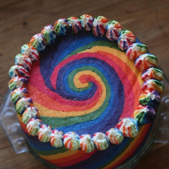 Rainbow Cake Top