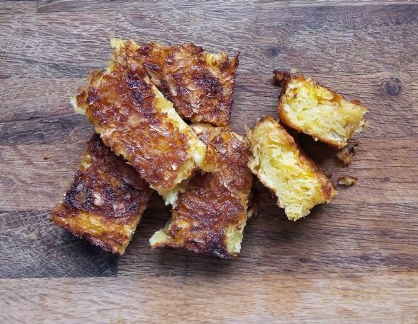 Slices of Orange Filo Pudding